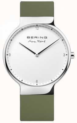 Bering Mens max René wymienny zielony pasek gumowy 15540-800