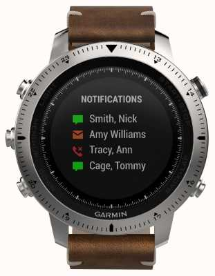 Garmin Fenix ​​chronos vintage style leather (w / black sports band) 010-01957-00