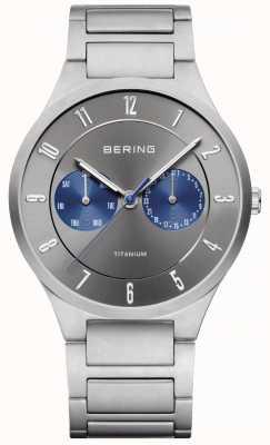 Bering Męski zegarek chronograf tytanowy szary 11539-777