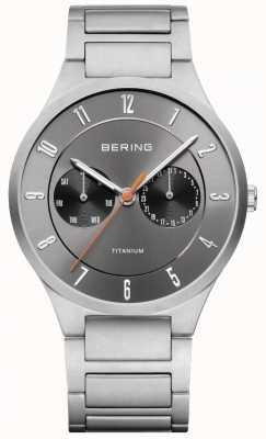Bering Męski zegarek chronograf tytanowy szary 11539-779