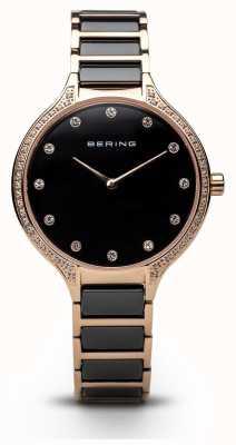 Bering Zestaw damski z czarnej cyrkonii 30434-746