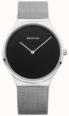 Bering Męskie klasyczne milanese mesh black face 12138-002