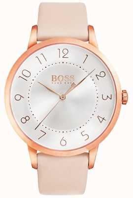 BOSS Zegarek kobiet eclipse z różowym wykończeniem 1502407