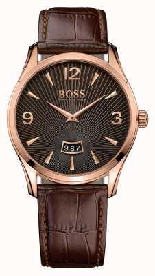 Hugo Boss Męski brązowy zegarek ze skóry dowódcy 1513426