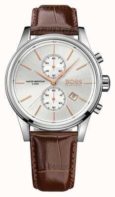 Hugo Boss Męskie skórzane brązowe zegarki chrono z wyświetlaczem 1513280EX-DISPLAY