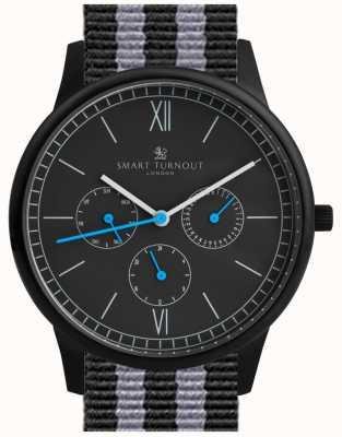Smart Turnout Zegarek na czas - czarny z paskiem nato STK2/BK/56/W