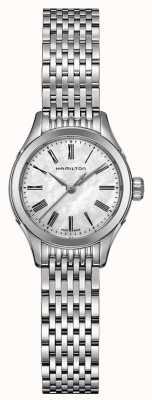 Hamilton Womans amerykański klasyczny dzielny srebrny kwarc H39251194