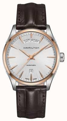 Hamilton Mens jazzmaster dzień data automatyczna skóra H42525551