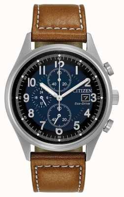 Citizen Męski chandler z chronografem na niebiesko CA0621-05L