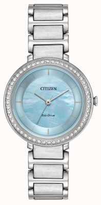 Citizen Womans eco-drive sylwetka crystal blue EM0480-52N