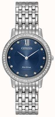 Citizen Womans eco-drive sylwetka crystal blue EX1480-58L