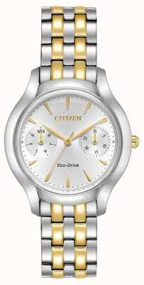 Citizen Womans eco-drive sylwetka chandler dwukolorowy FD4014-56A