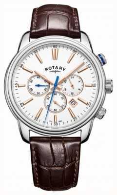 Rotary Męski zegarek sportowy monaco biały GS05083/06