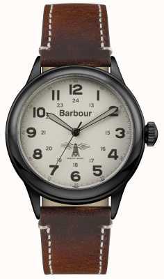 Barbour Męskie brązowe skóry BB056CMBR