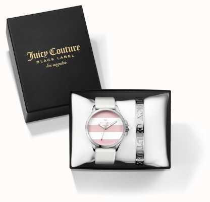 Juicy Couture Womans fergi biało-srebrna bransoletka i zestaw podarunkowy do zegarków 1950009