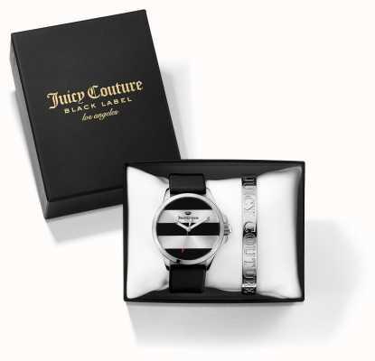 Juicy Couture Zestaw podarunkowy Womans czarny srebrny bransoletka i zegarek 1950011