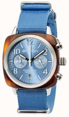 Briston Mens clubmaster classic octan chrono żółw szary 16140.SA.T.14.NLB
