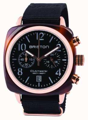 Briston Mens clubmaster classic octo chrono czarny 14140.PRA.T.1.NB