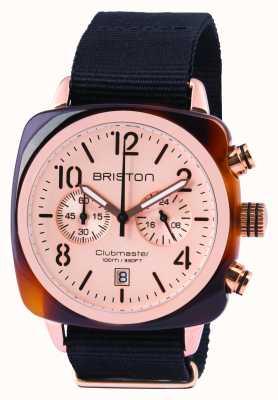 Briston Mens clubmaster classic octo chrono różowe złoto 14140.PRA.T.6.NB