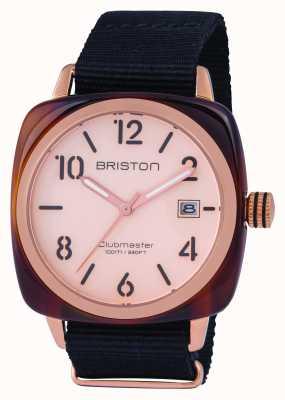 Briston Męski klubarz klasyczny octan różowe złoto 14240.PRA.T.6.NB