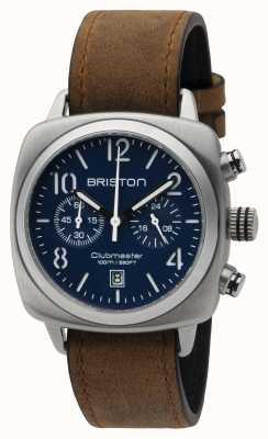 Briston Męski klubowy master klasyczny stalowy chrono matowy niebieski 16140.S.C.15.LVBR