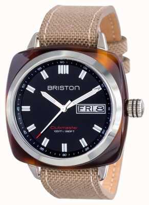 Briston Mens clubmaster sport octan hms żółw czarny shell 15342.SA.TS.1.LSK