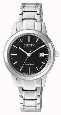 Citizen Zegarek ze stali nierdzewnej z motywem eko-jazdy dla kobiet FE1081-59E