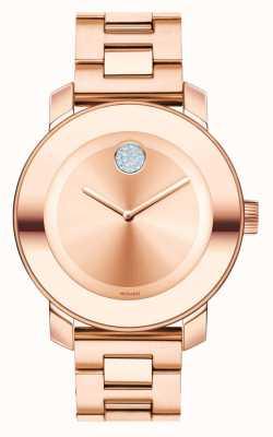 Movado Odważny średni jonowy kryształ k1 w kolorze różowego złota 3600086