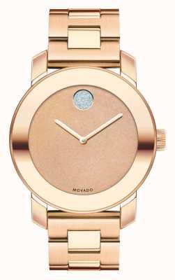 Movado Odważny średni jonowy kryształ k1 w kolorze różowego złota 3600335