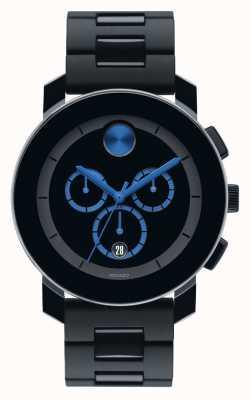 Movado Odważny, duży kompozyt chronograf czarny tr90 3600101