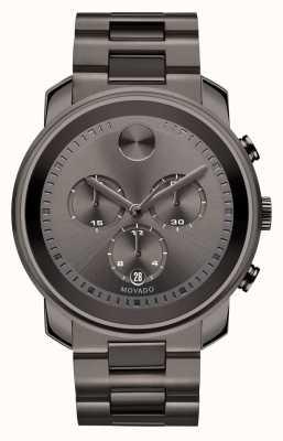 Movado Pogrubiony gruby jubiler z chronografem w kolorze szarego chronografu 3600277