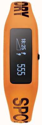 Superdry Unisex fitness tracker pomarańczowy pasek silikonowy SYG202O