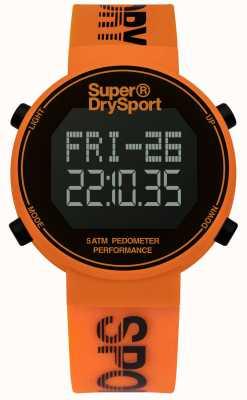 Superdry Unisex krokomierz krokomierz pomarańczowy pasek silikonowy SYG203O