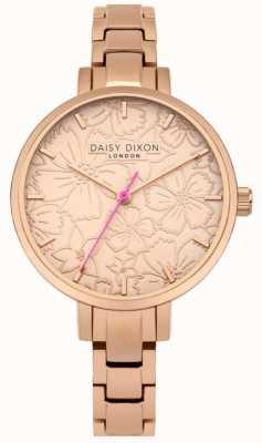 Daisy Dixon Womans leona kwiatowy print tarcza różowe złoto DD043RGM