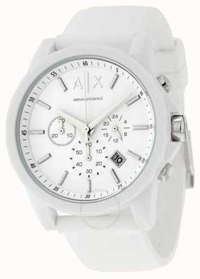 Armani Exchange Mężczyzna aktywny biały silikon chronograf AX1325