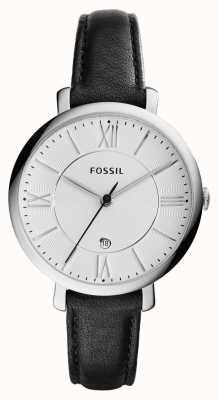 Fossil Womans czarna srebrna tarcza wybielająca ES3972