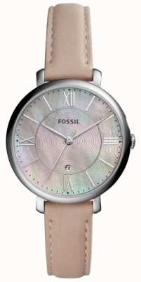 Fossil Womans jacqueline mop dial różowy skórzany pasek ES4151