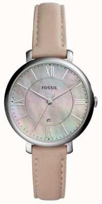 Fossil Womans jacqueline mop dial różowy skórzany pasek ES4151