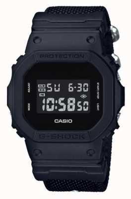 Casio Męski czarny pasek z tkaniny g-shock DW-5600BBN-1ER
