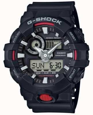 Casio Męski chronograf g-shock chronograf czarny GA-700-1AER