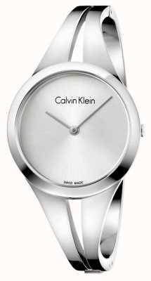 Calvin Klein Srebrna bransoleta ze stali nierdzewnej K7W2S116