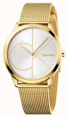 Calvin Klein Minimalistyczny zegarek męski | złoty pasek ze stali nierdzewnej | K3M21526