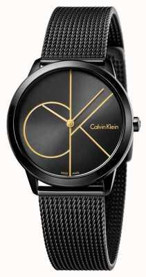Calvin Klein Womans minimalna czarna siatka K3M224X1