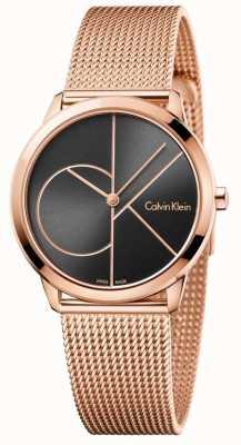 Calvin Klein Womans minimalny różany złocisty siatka K3M22621