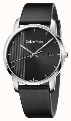 Calvin Klein Mens city czarna skórzana czarna tarcza K2G2G1C1