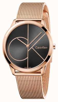 Calvin Klein Męska minimalna różowa siatka z czarnym oczkiem K3M21621
