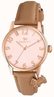 Radley Womans liverpool street light brown skórzany pasek RY2458