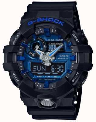 Casio Męski g-shock alarm chronograf niebieski GA-710-1A2ER