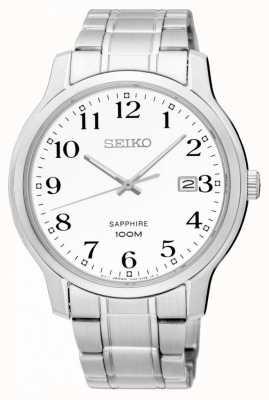 Seiko Męski klasyczny szafir srebrno-biały SGEH67P1