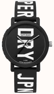 Superdry Męskie kampusowe blok silikonowy fluro czarny zegarek SYG196BBW